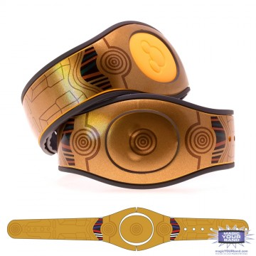 Limited Edition Golden Droid Gloss MagicBand 2 Skin