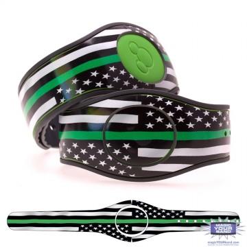 Thin Green Line Flag MagicBand 2 Skin