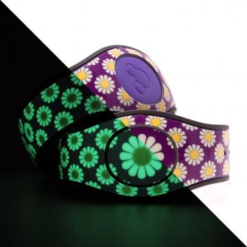 Glow in the Dark Daisy (Purple) MagicBand 2 Skin