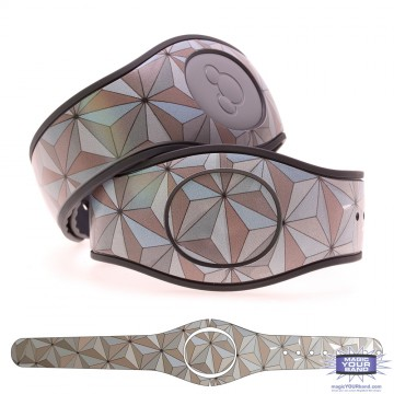 Classic Abstract Triangles in Silver MagicBand 2 Skin