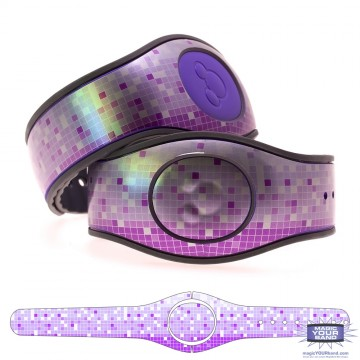 Metallic Silver Mosaic in Purple