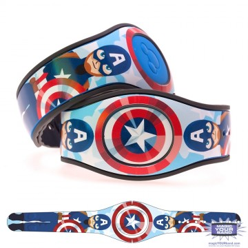Shielded Superhero (Character) MagicBand 2 Skin