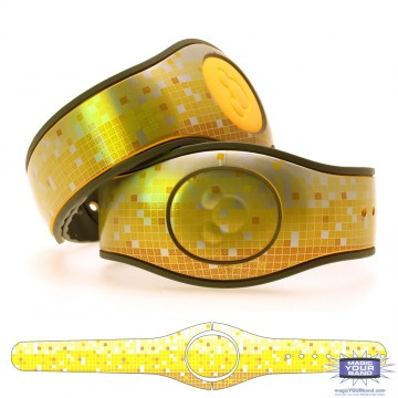 Metallic Silver Mosaic in Yellow