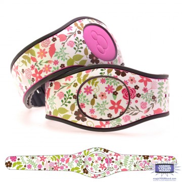 Spring Flowers Series 3 - Pink Flowers MagicBand 2 Skin