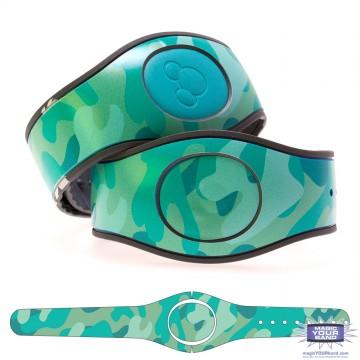 Camouflage Pattern (Aquamarine) MagicBand 2 Skin