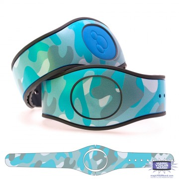 Camouflage Pattern (Turquoise) MagicBand 2 Skin