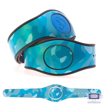 Camouflage Pattern (Teal) MagicBand 2 Skin