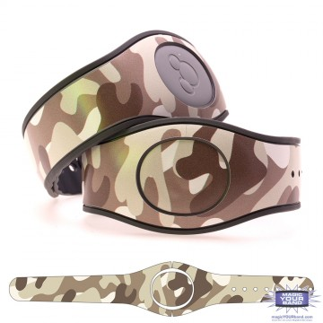 Camouflage Pattern (Brown) MagicBand 2 Skin