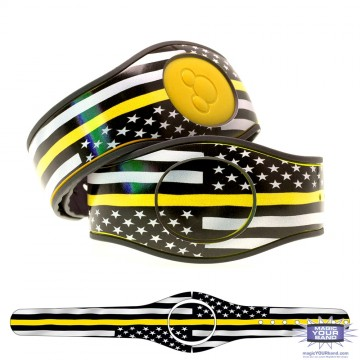 Thin Yellow Line Flag MagicBand 2 Skin