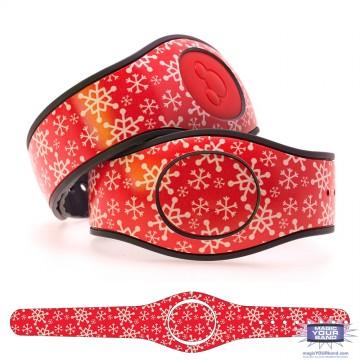 Christmas Snowflake (Red) MagicBand 2 Skin