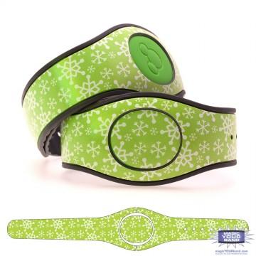 Christmas Snowflake (Green) MagicBand 2 Skin