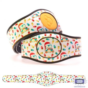 Penguin with Christmas Lights MagicBand 2 Skin