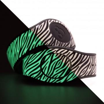 Glow in the Dark Zebra Stripes MagicBand 2 Skin