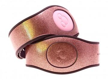 Rose Gold Ultra Glitter MagicBand 2 Skin