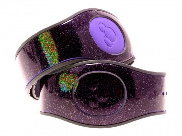 Dark Purple Ultra Glitter MagicBand 2 Skin