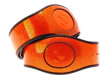 Aurora Orange Ultra Glitter MagicBand 2 Skin