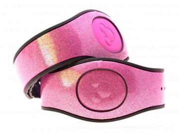 Jellybean Pink Ultra Glitter MagicBand 2 Skin