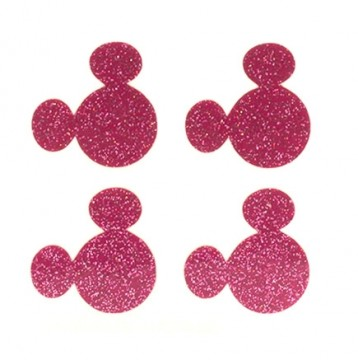 Pink Glitter MagicBand Icon Stickers