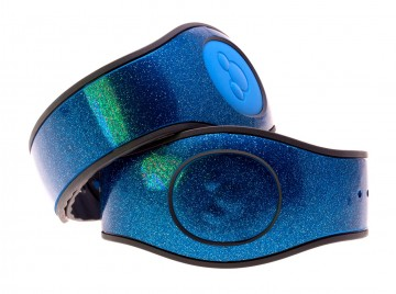 Apollo Blue Ultra Glitter MagicBand 2 Skin