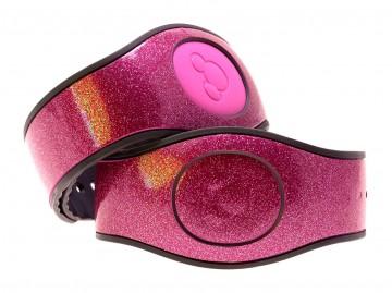 Pink Ultra Glitter MagicBand 2 Skin