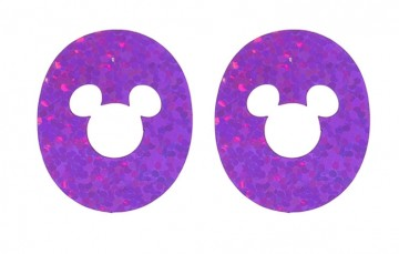 Holographic Purple Sparkles MagicBand Icon Disk Stickers