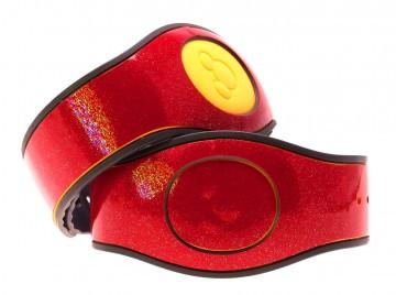 Red Garnet Ultra Glitter MagicBand 2 Skin