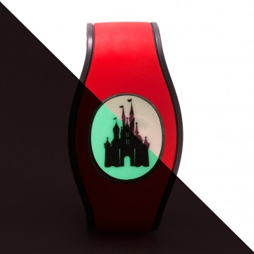 Glow in the Dark Glitter Castle Icon Disk