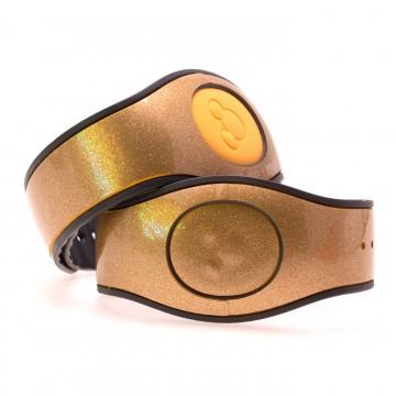Champagne Gold Ultra Glitter MagicBand 2 Skin