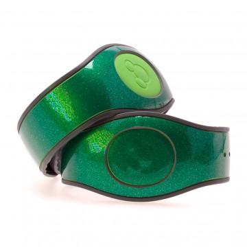 Artemis Green Ultra Glitter MagicBand 2 Skin