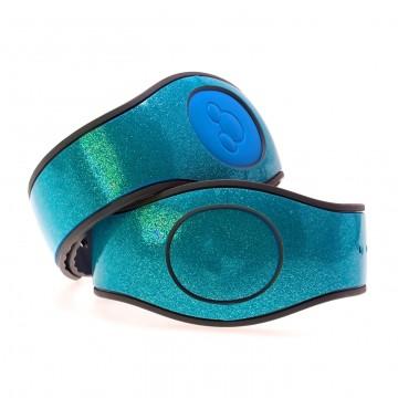 Fjord Blue Ultra Glitter MagicBand 2 Skin