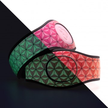 Glow In The Dark Abstract Triangles in Rainbow MagicBand 2 Skin