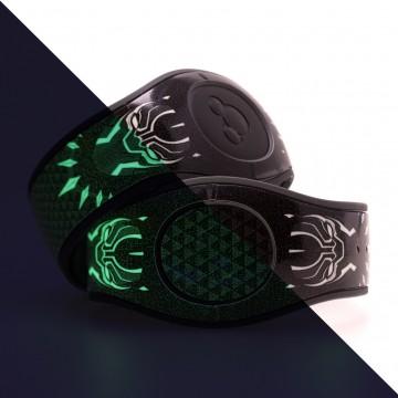 Glow In The Dark Panther King MagicBand 2 Skin