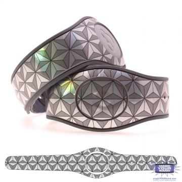 Chrome Epcot Triangles MagicBand 2 Skin
