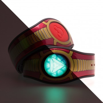 Iron Man's Bracelet with Glow In the Dark Feature MagicBand 2 Skin