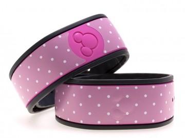 Polka Dots in Pink MagicBand Skin