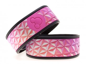 Abstract Triangles Pink MagicBand Skin