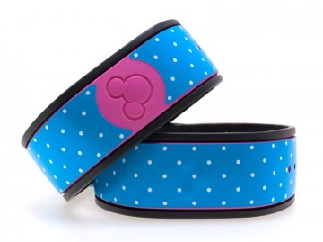 Polka Dots in Teal MagicBand Skin