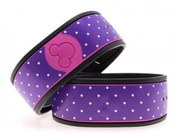 Polka Dots in Purple MagicBand Skin