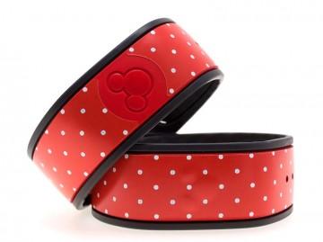 Polka Dots in Red MagicBand Skin