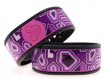 Techno Purple MagicBand Skin