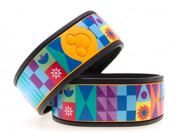 Colorful Contemporary Mosaic MagicBand Skin (MagicBands)