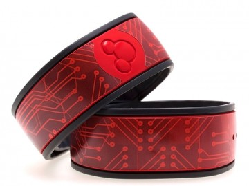 Red Circuit Board MagicBand Skin