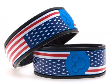 Large Stars & Stripes MagicBand Skin