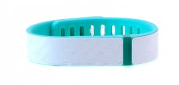Textured White Carbon Fiber Fitbit Flex Skin