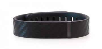 Black Carbon Fiber Textured Fitbit Flex Skin