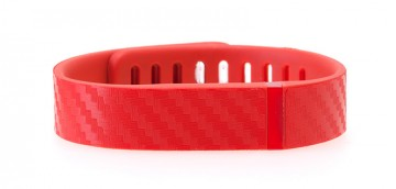 Textured Red Carbon Fiber Fitbit Flex Skin