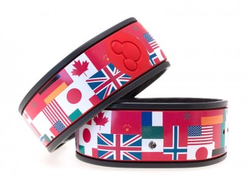 World Flag Montage MagicBand skin