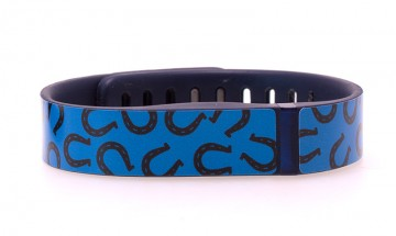 Horseshoe Pattern (Blue) Fitbit Flex Skin