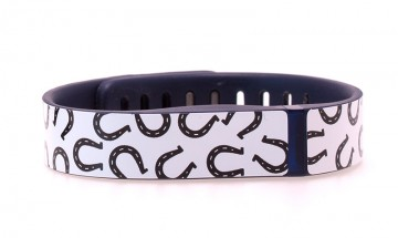 Horseshoe Pattern (White) Fitbit Flex Skin