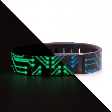 Glow in the Dark Circuits Design Fitbit Flex Skin